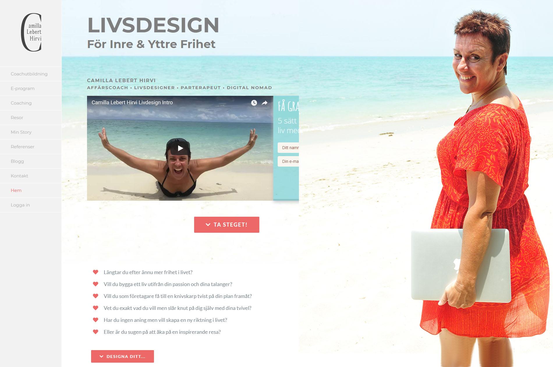 Webbdesign Camilla Lebert Hirvi Livsdesign