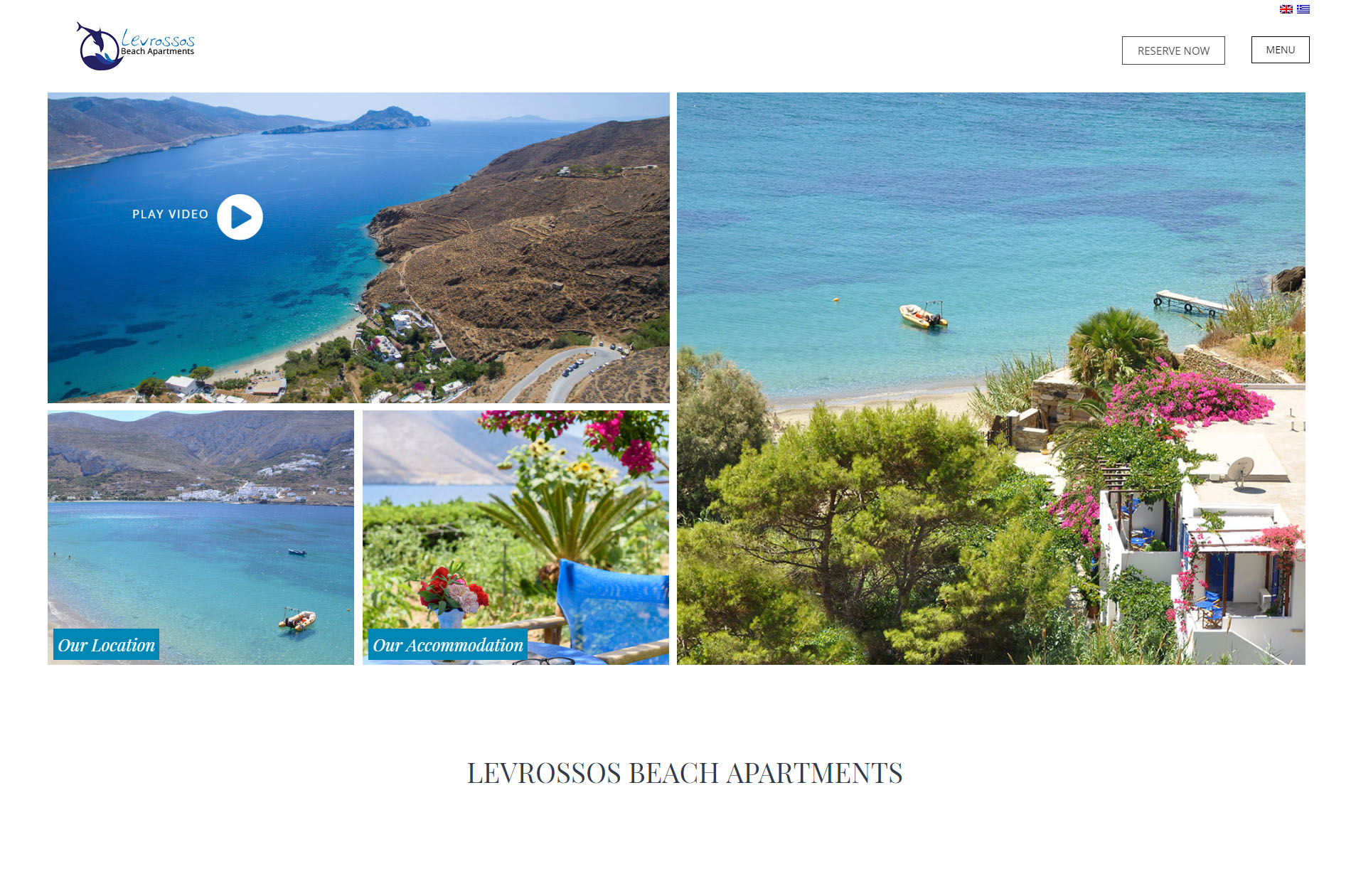 Web Design Levrossos Beach Apartments Amorgos
