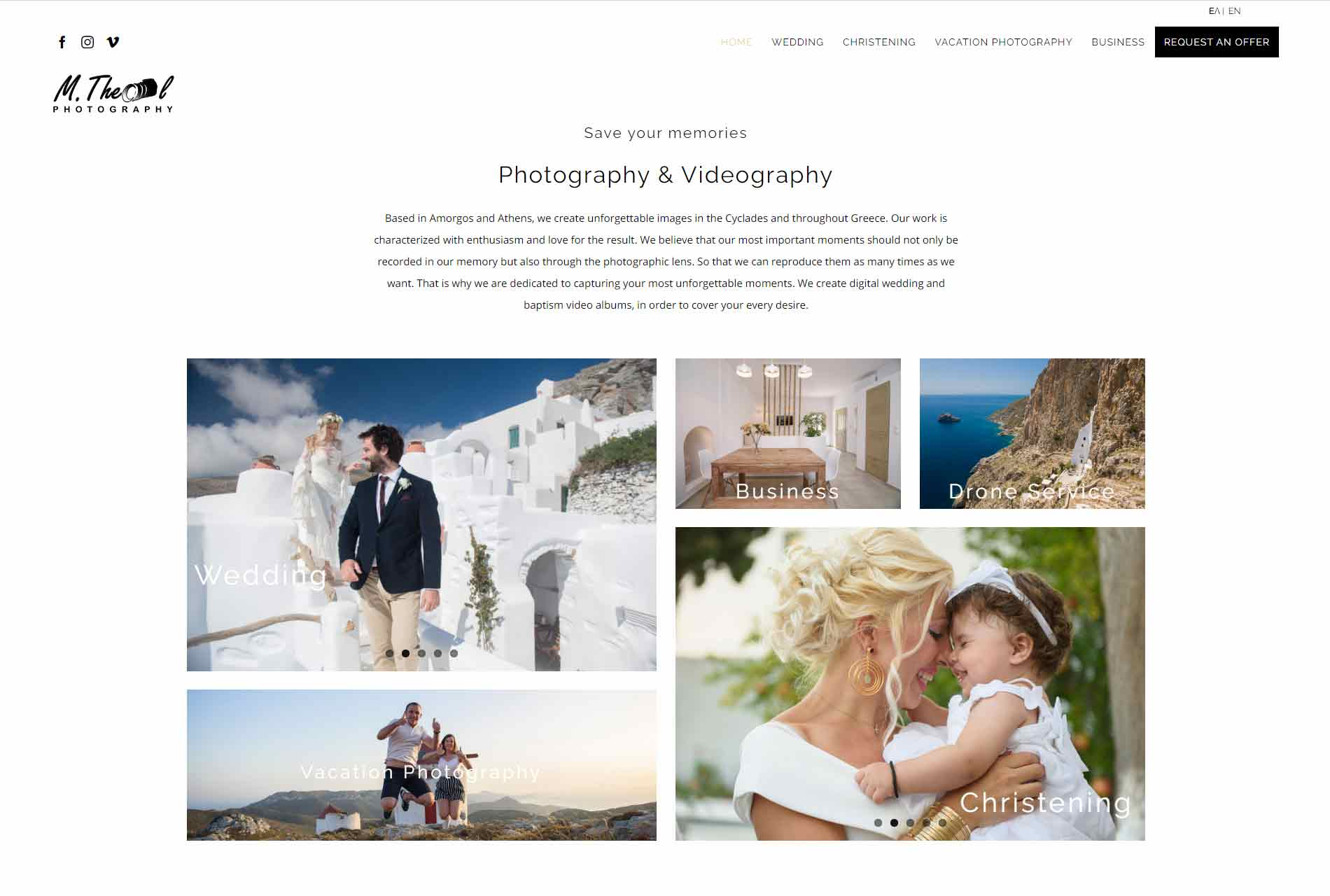Web design Mtheol Photographer