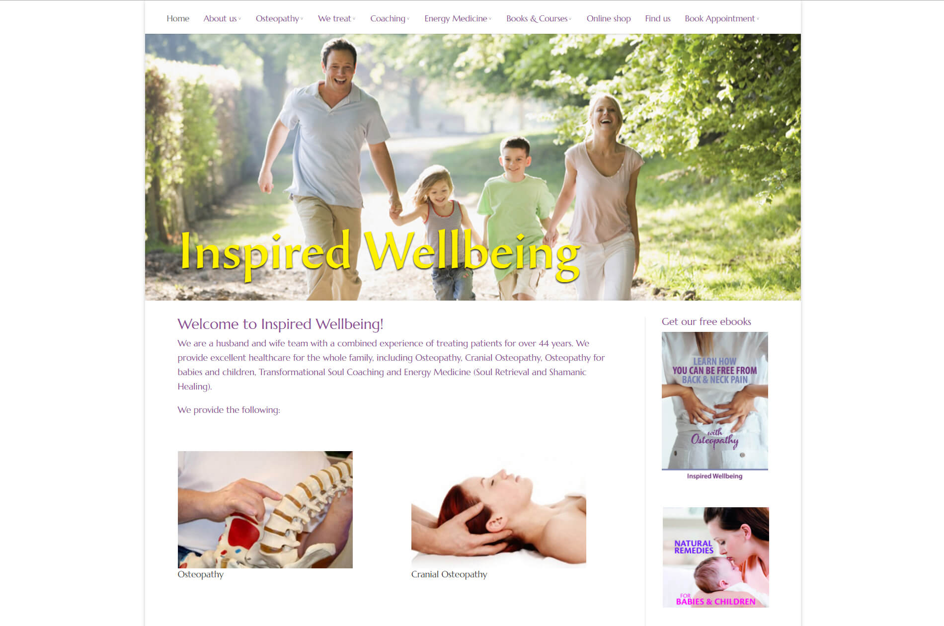 Webbdesign anweb  Inspired Wellbeing