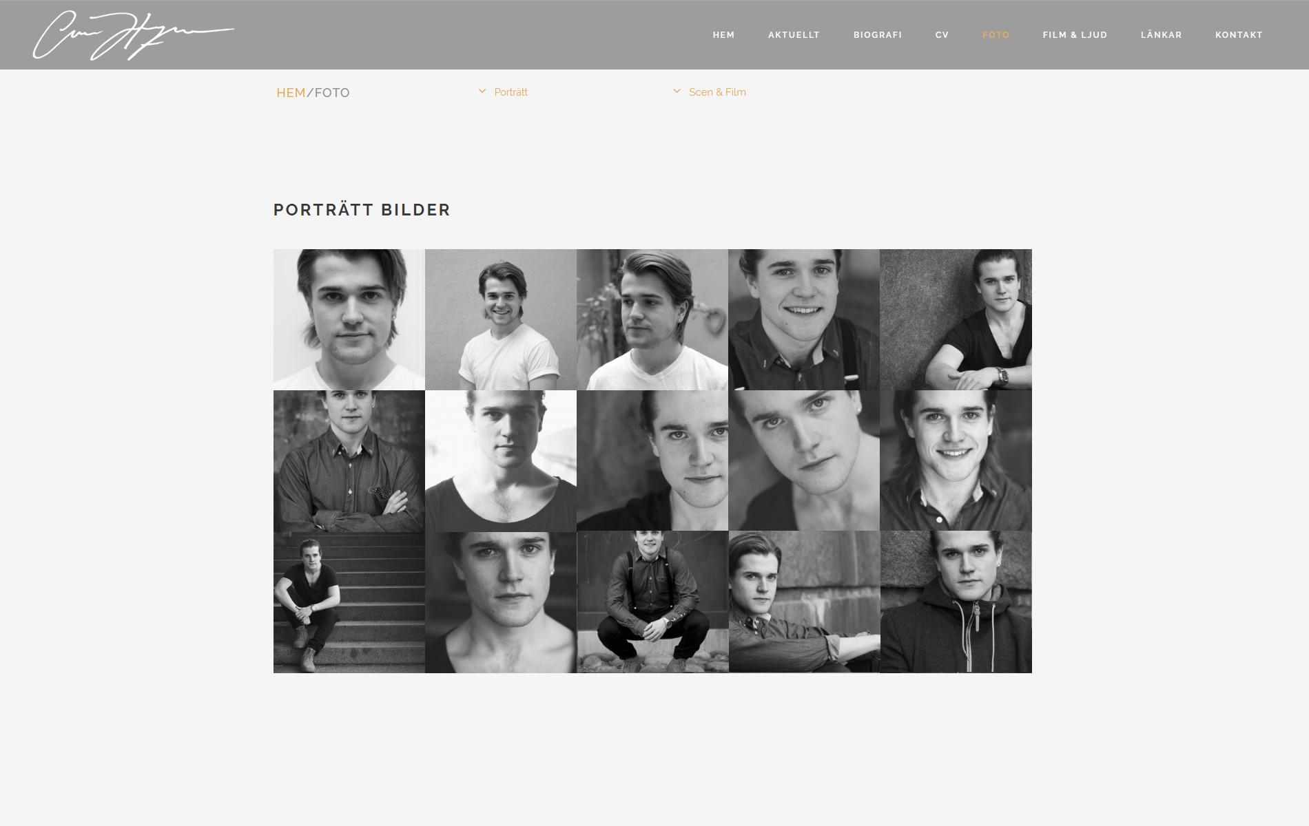 Website anweb Oscar Hellqvist
