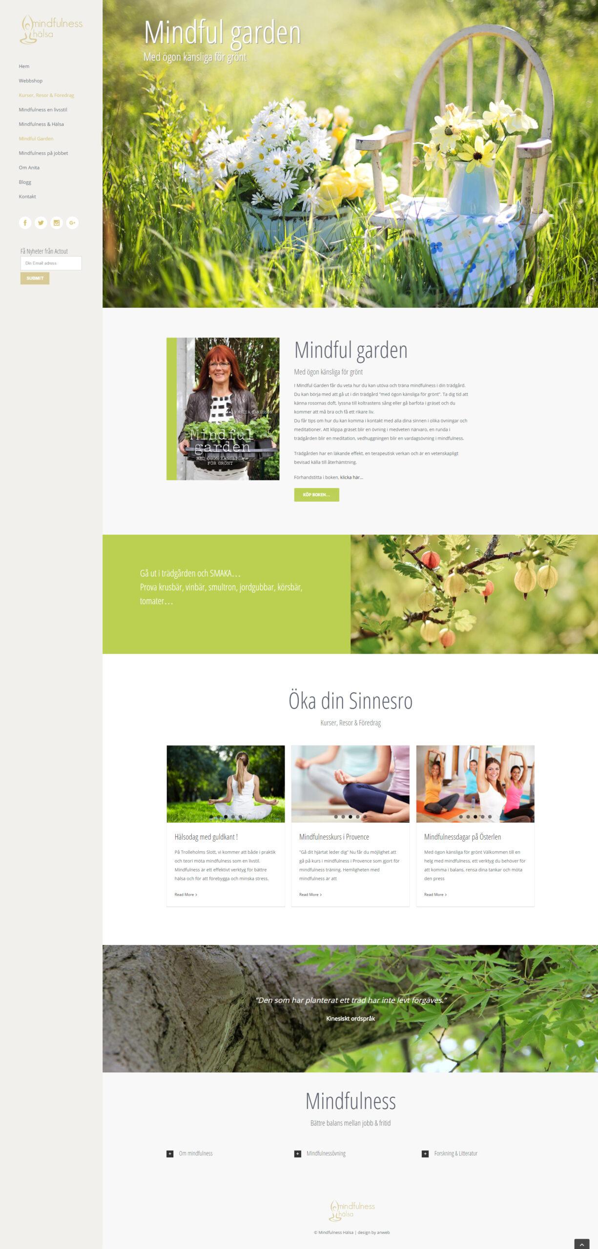 Web Design Mindfulness & Hälsa