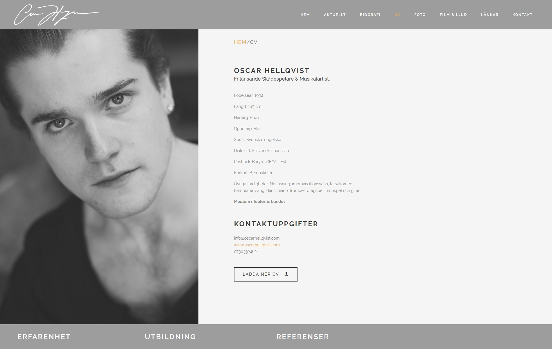 Web Design anweb Oscar Hellqvist