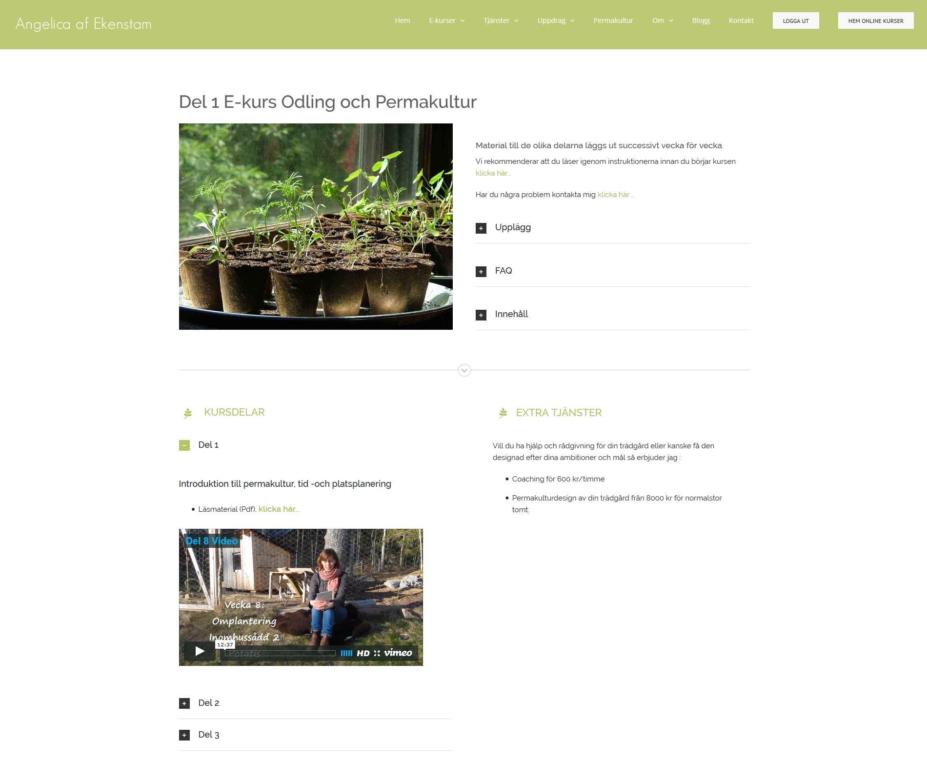 Website anweb design Permakultur