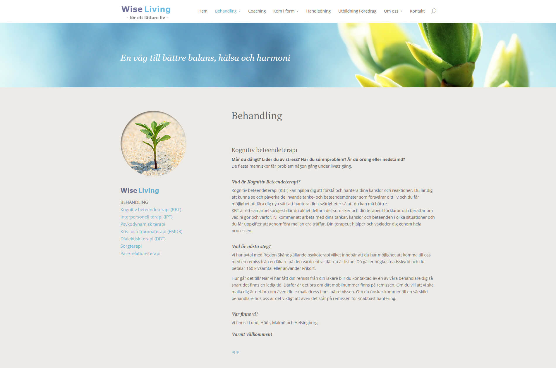 anweb Webbdesign Wise Living Terapi Coaching
