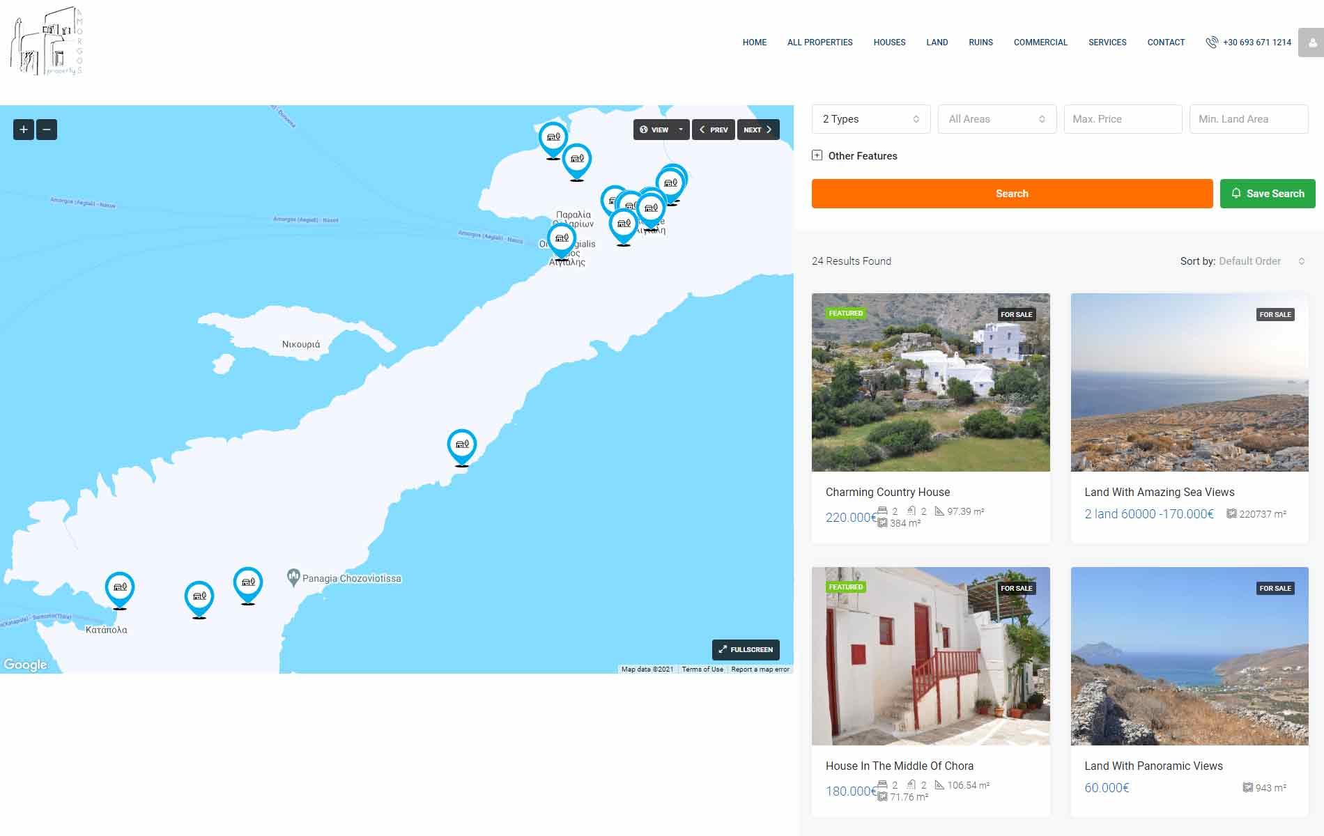 Web Design anweb Amorgos Property Real Estate
