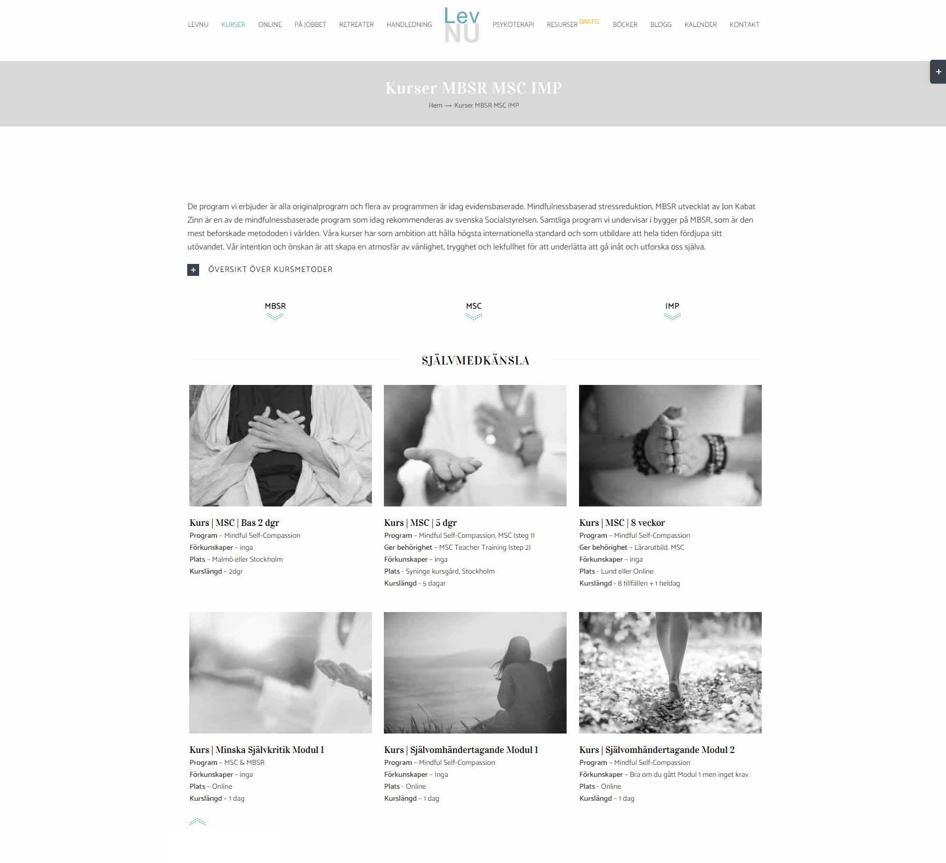 anweb design Levnu Mindfulness