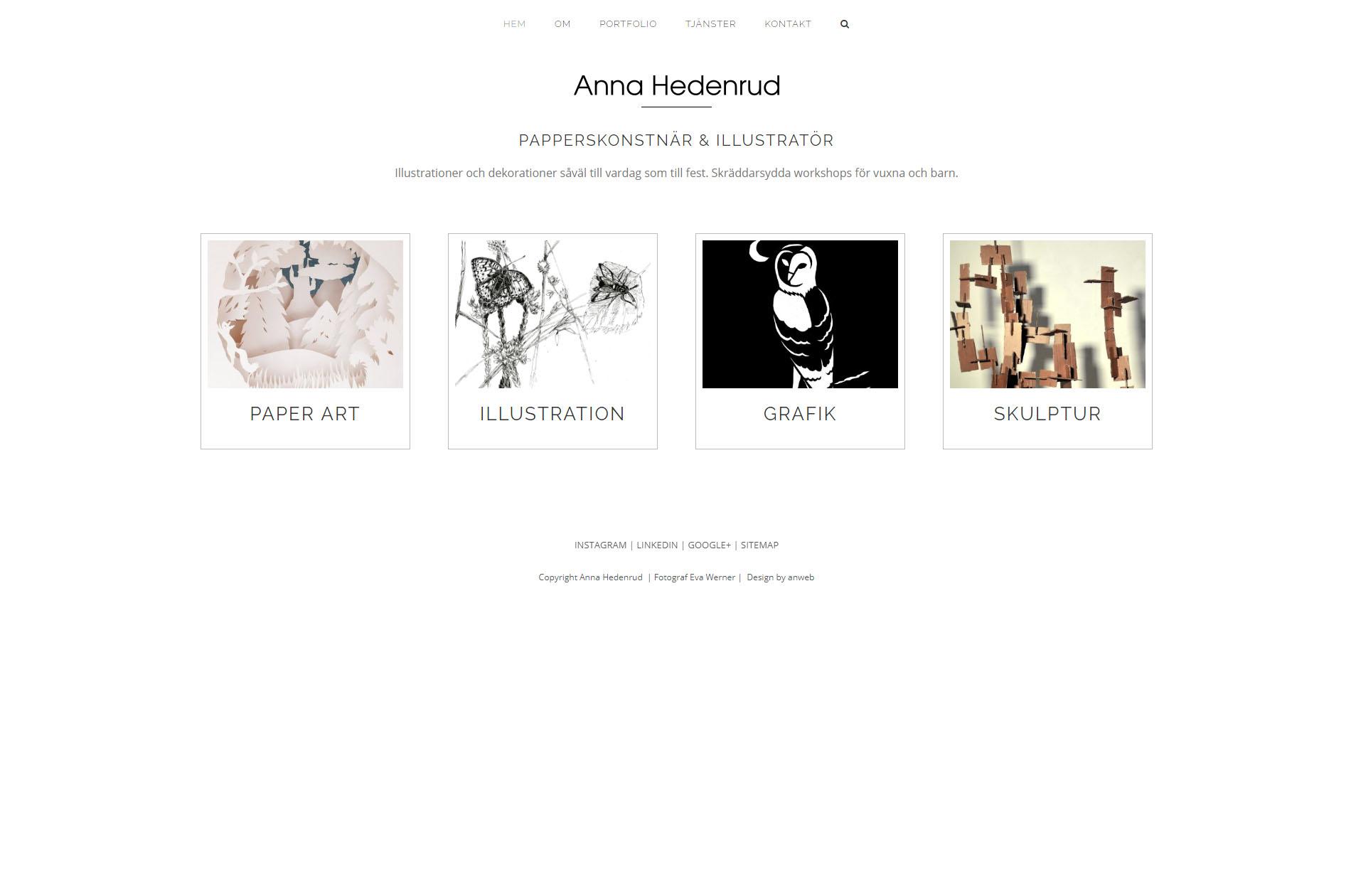 Anna Hedenrud Graphic designer