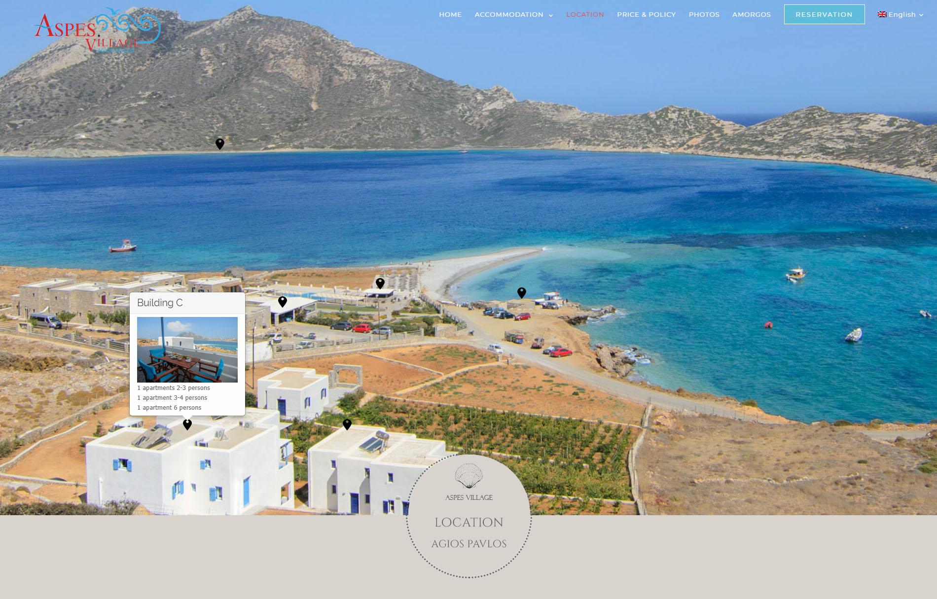Aspes Village Amorgos Apartments Hemsida