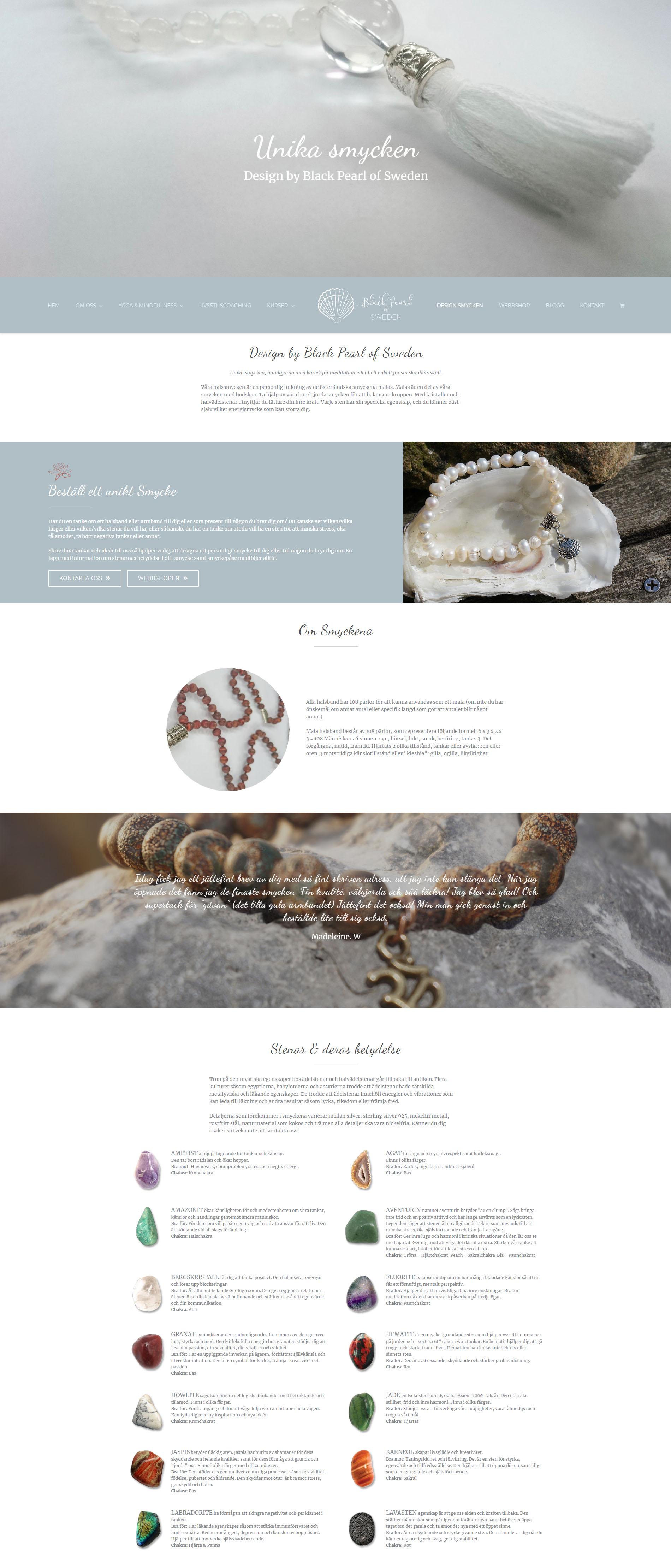 Black Pearl of Sweden Webbdesign