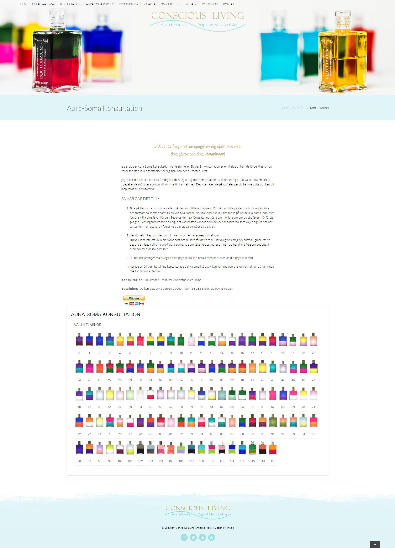Webbdesign Aura Soma Konsultation