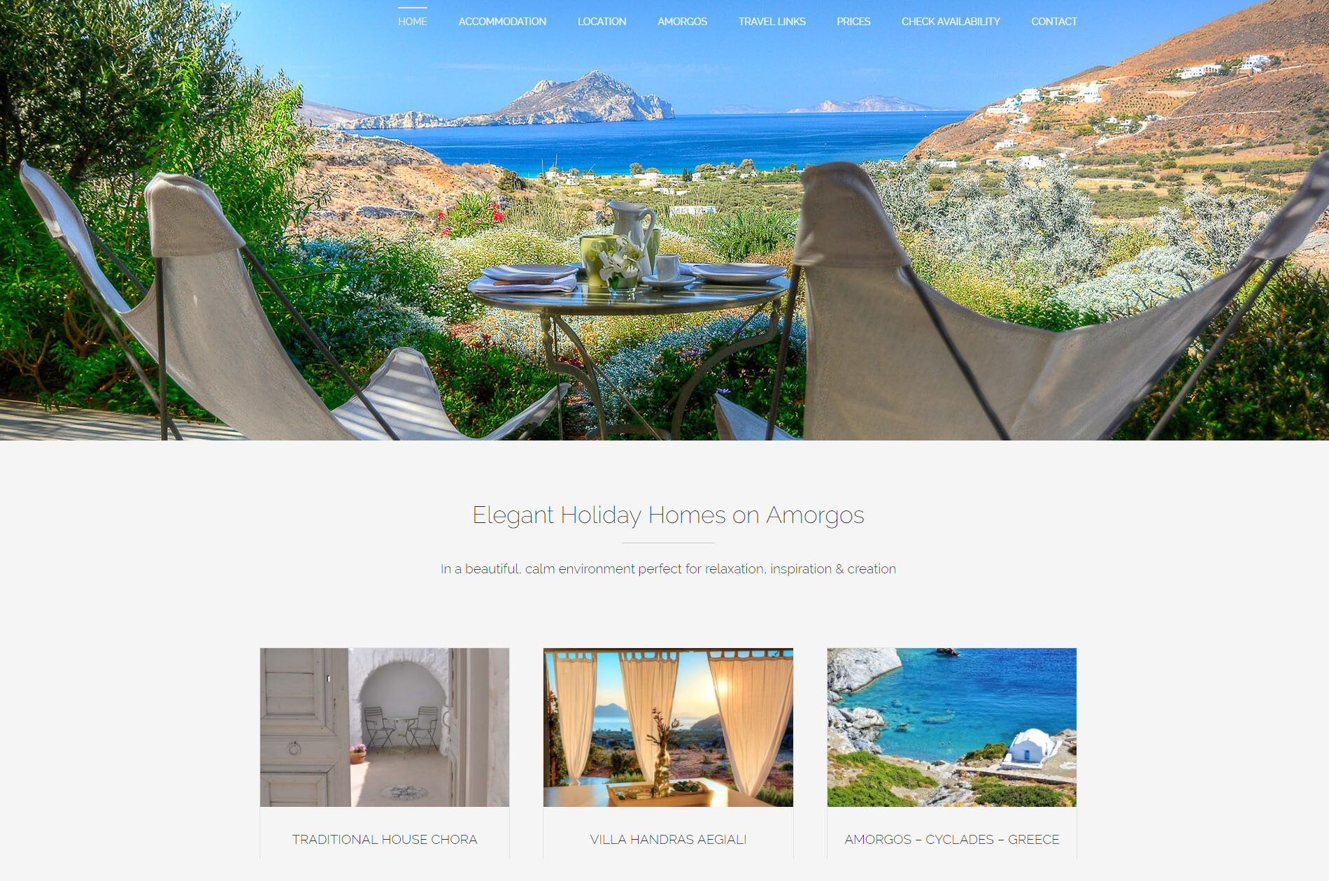 Web Design Elegant Holiday Homes