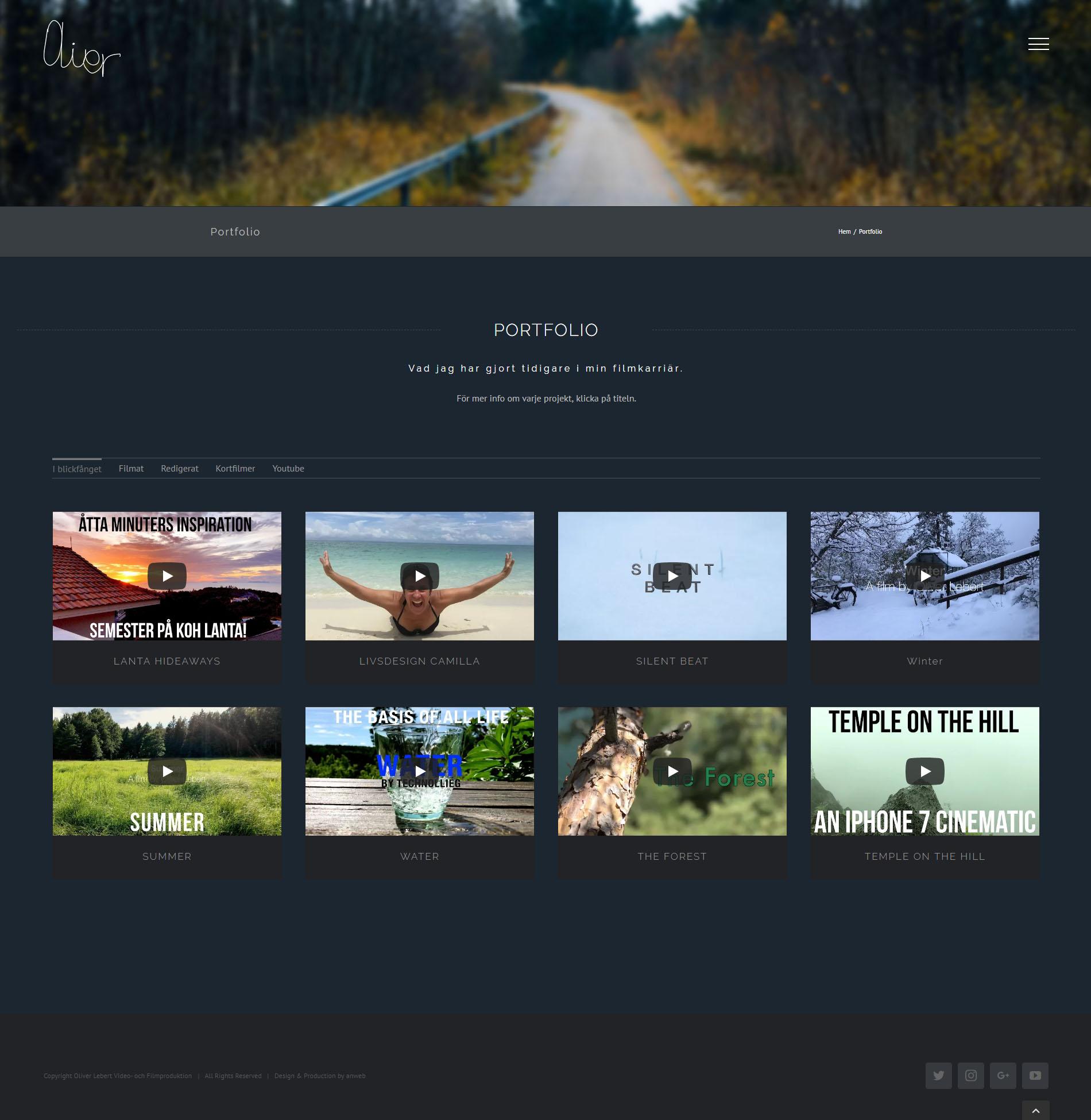 Webbdesign WordPress Video & Film Produktion