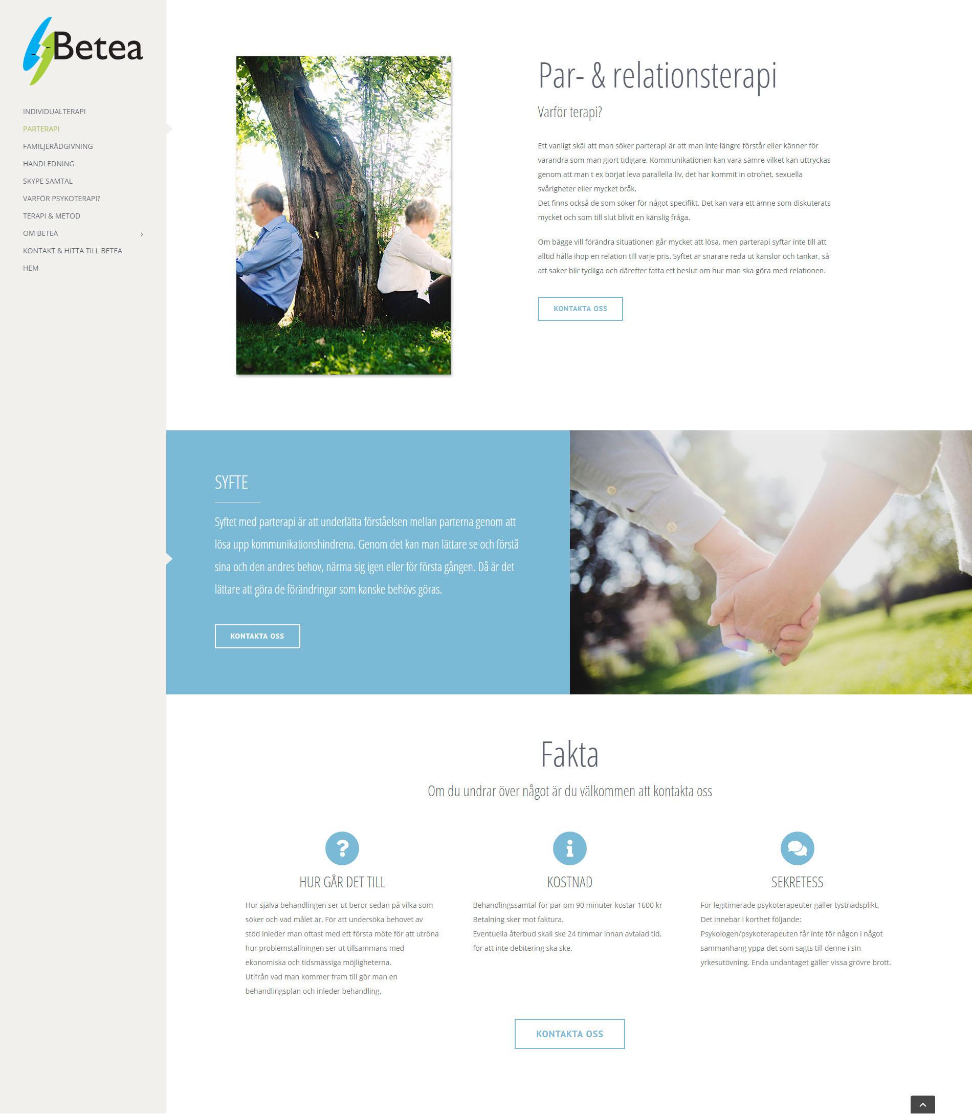 Webbdesign WordPress Betea Psykoterapi