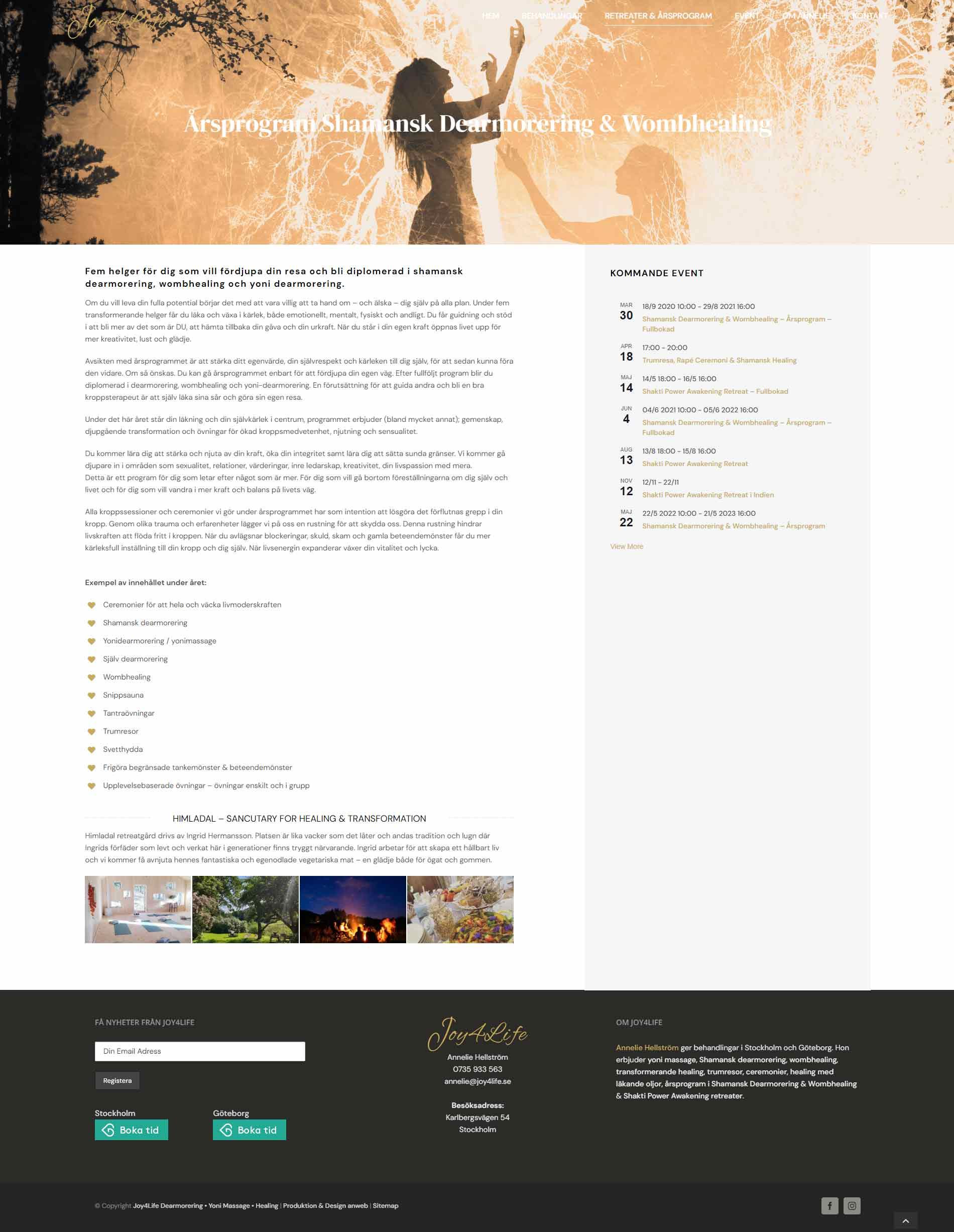 Web design anweb Joy4Life courses