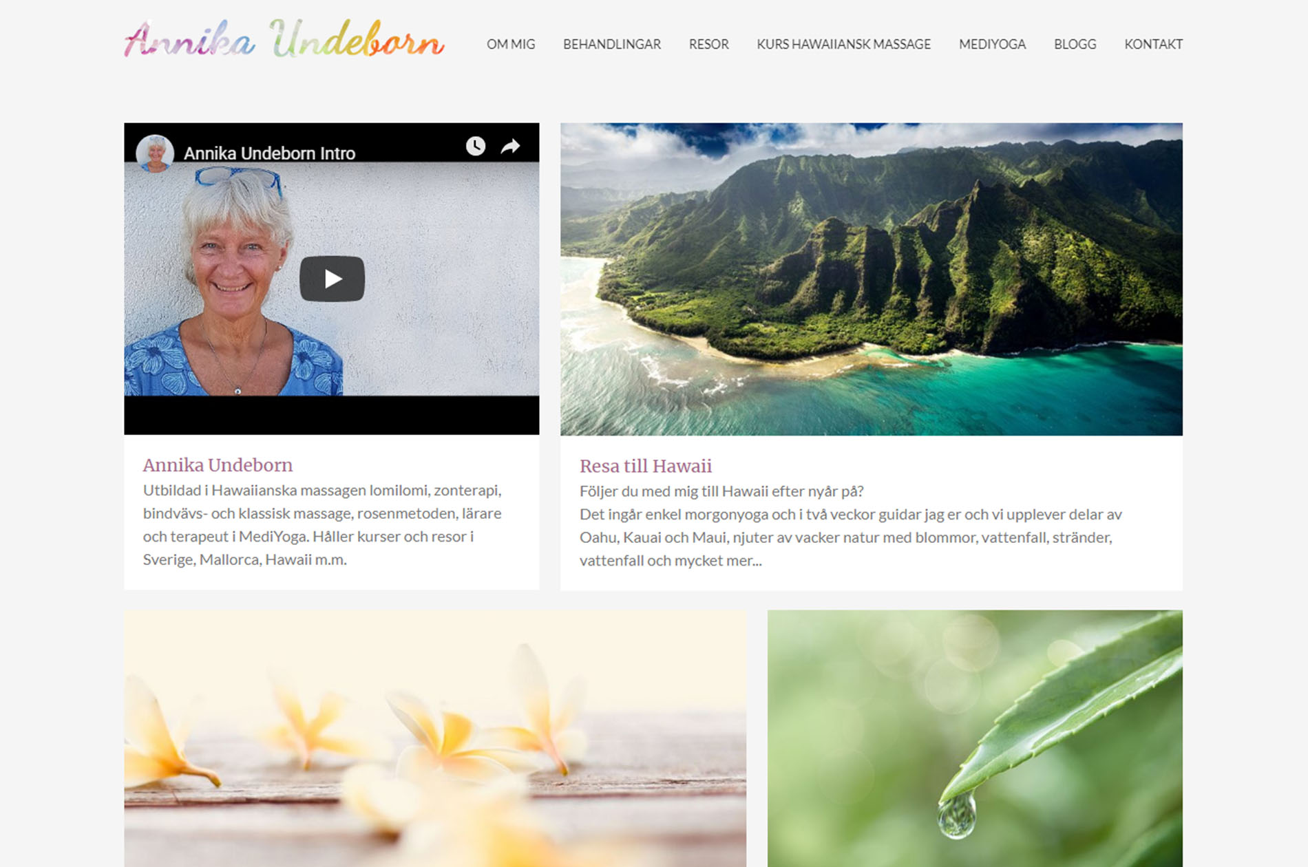 Annika Undeborn Web Design