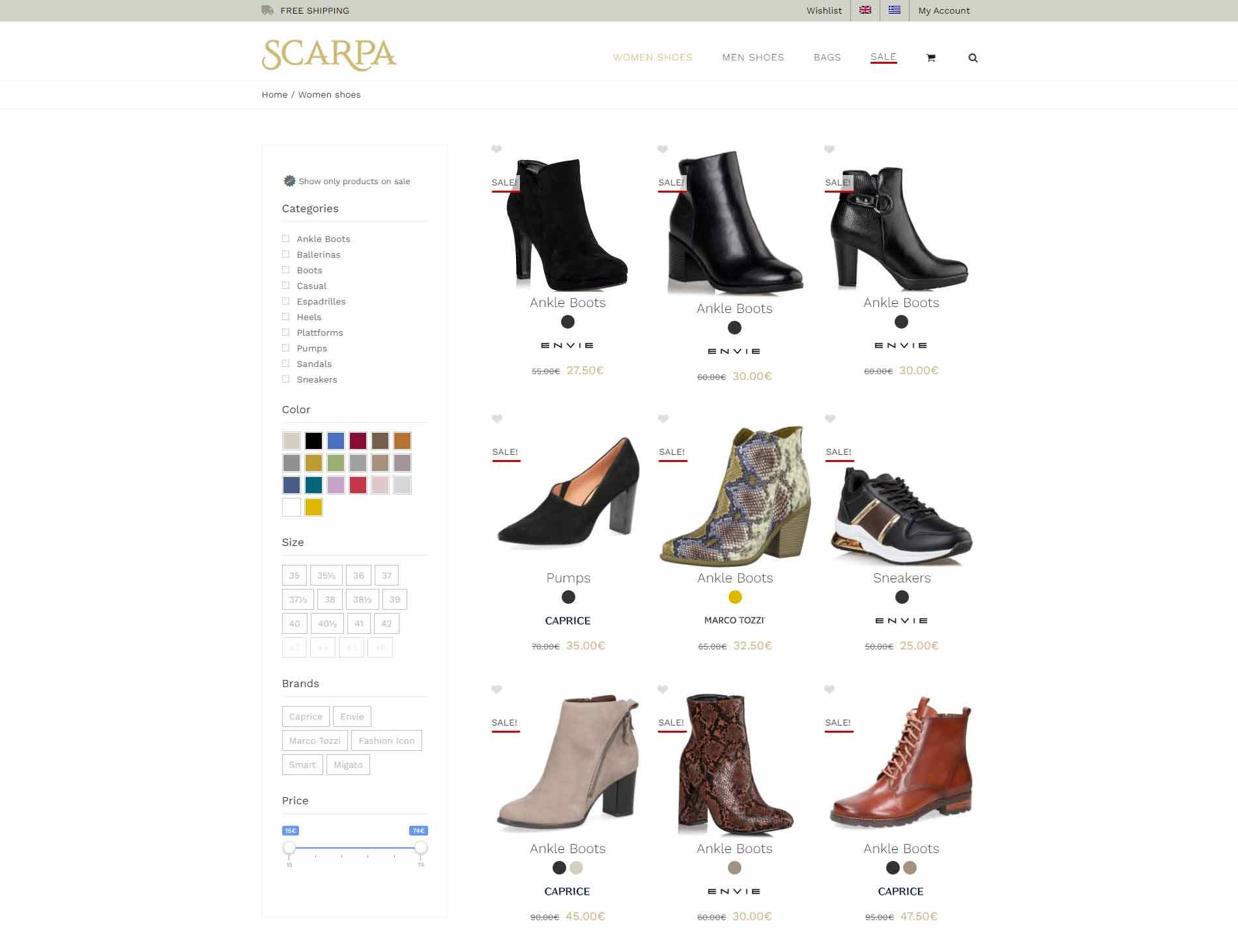 E-shop Scarpa Magazino Shoes Accessories Bags