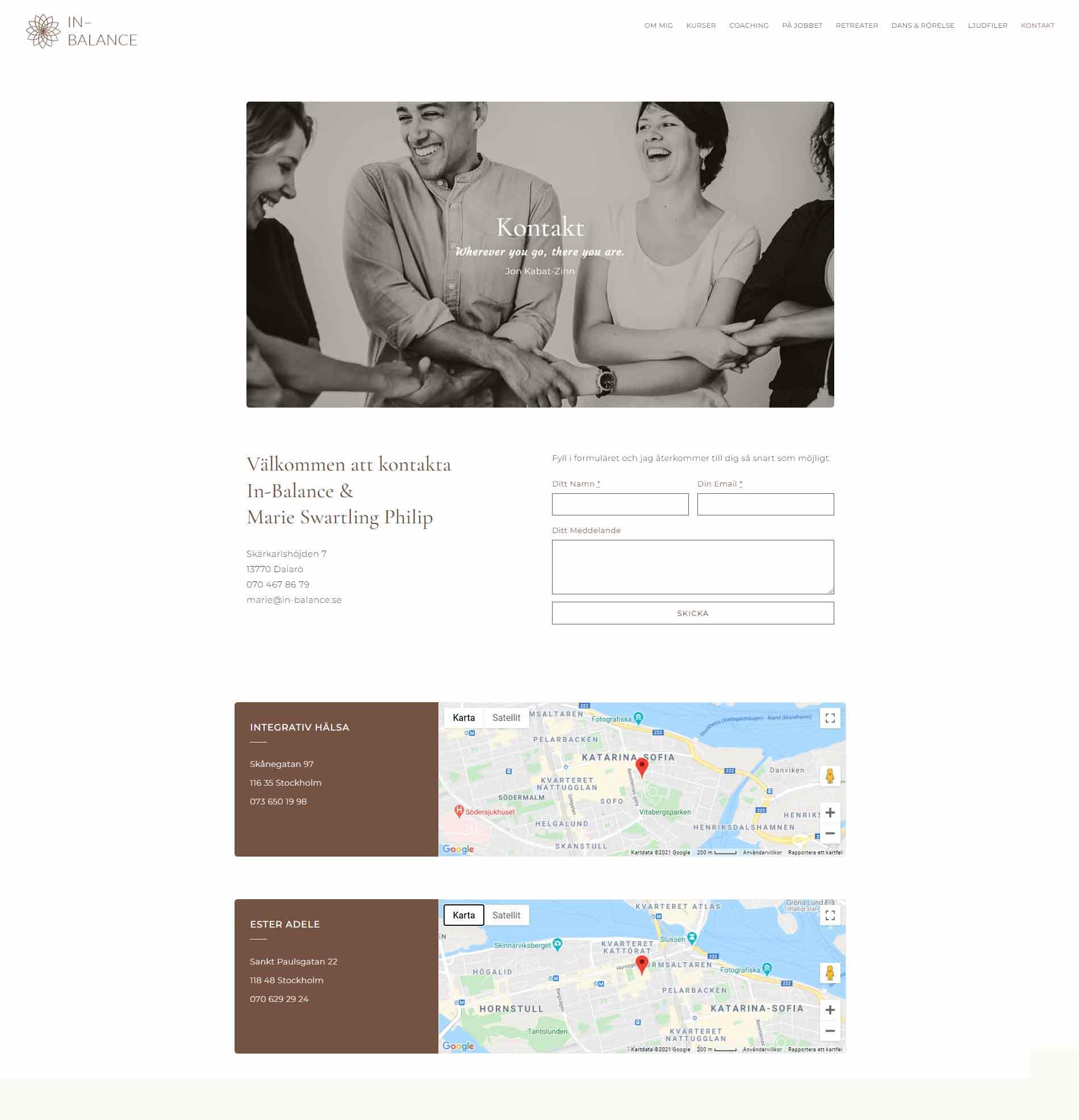 Web design anweb In-Balance Mindfulness
