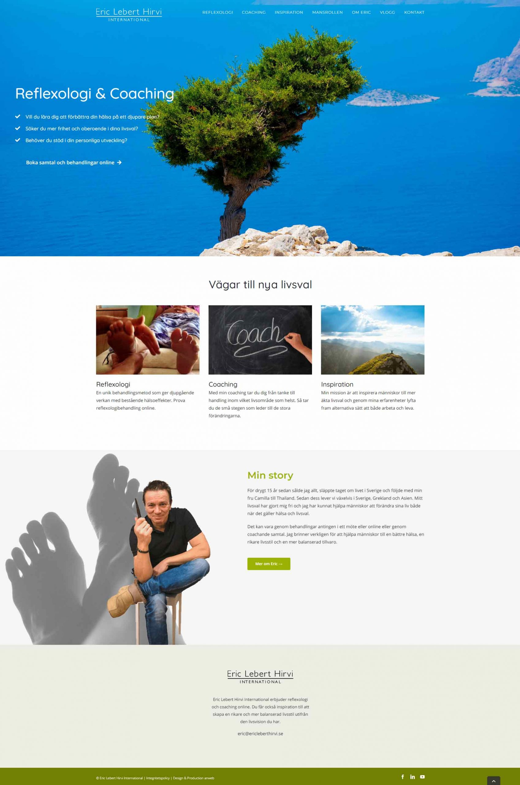 Web design Reflexology & Coaching