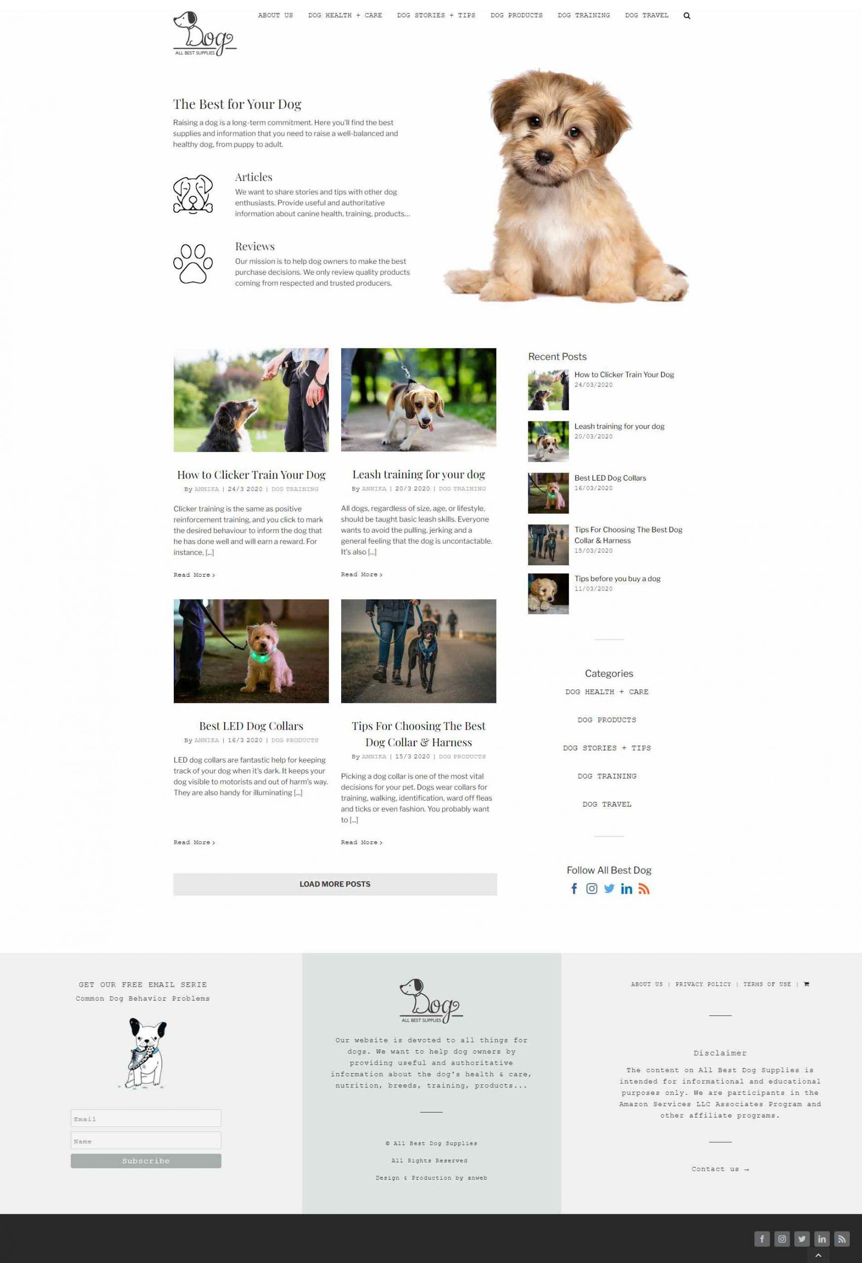 Webbdesign anweb All Best Dog Supplies