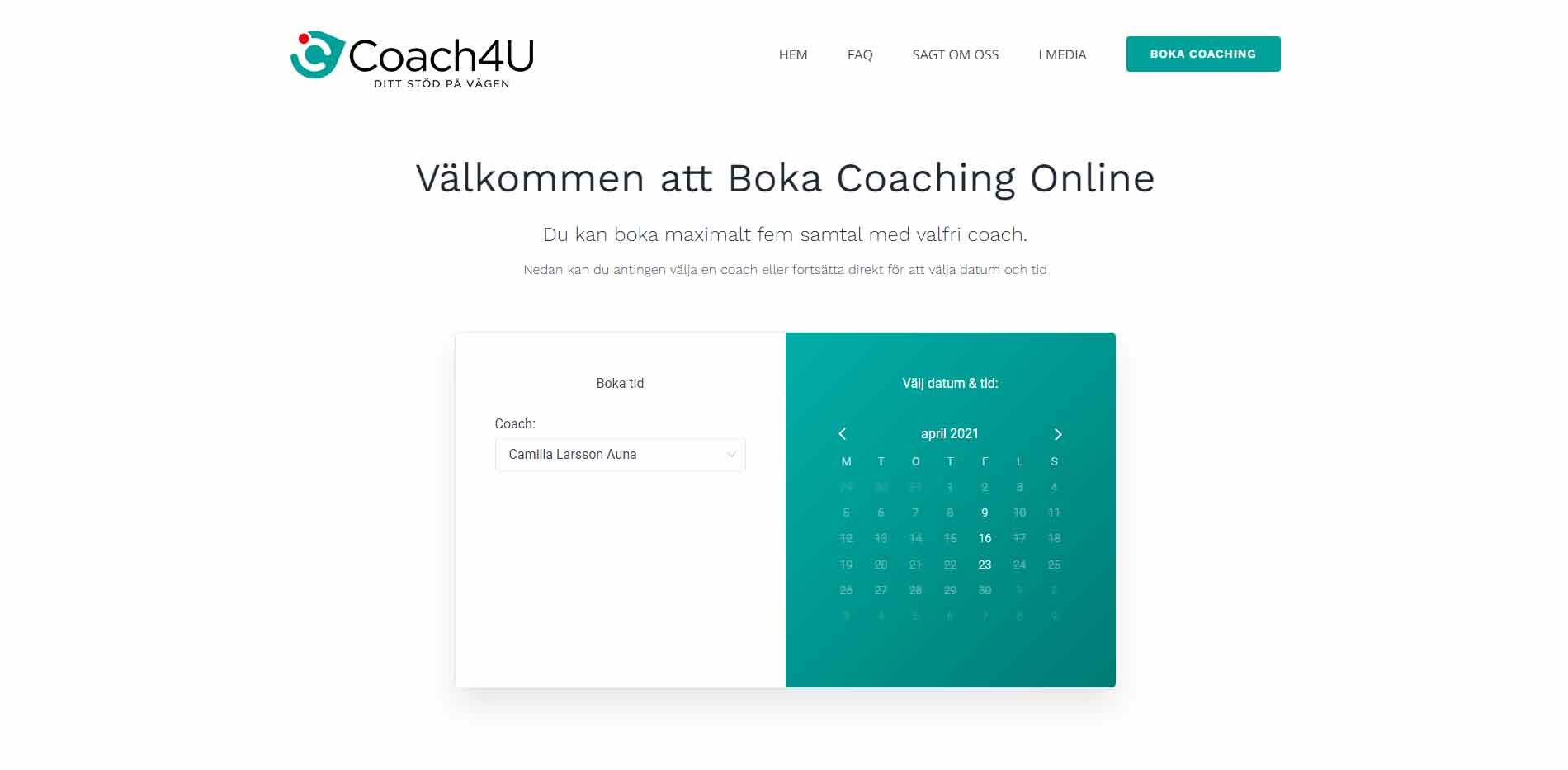 Webbdesign anweb Coach4U