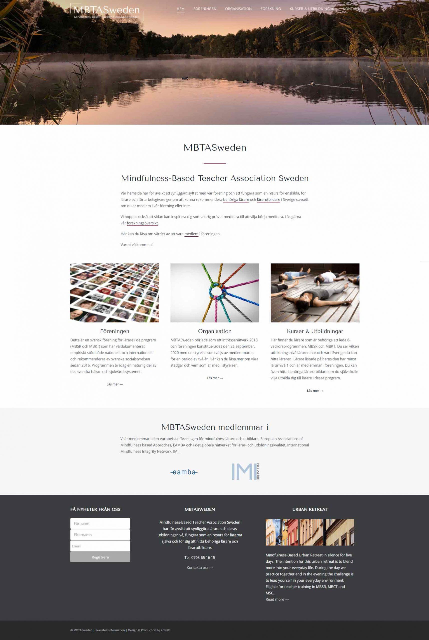 Web design anweb MBTASweden